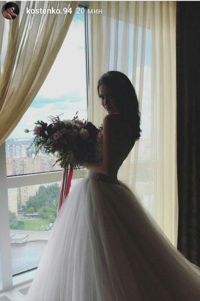 Анастасия Костенко примерила свадебный образ