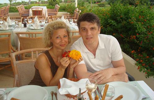 Сергей Щербаков с женой Натальей Ковгар