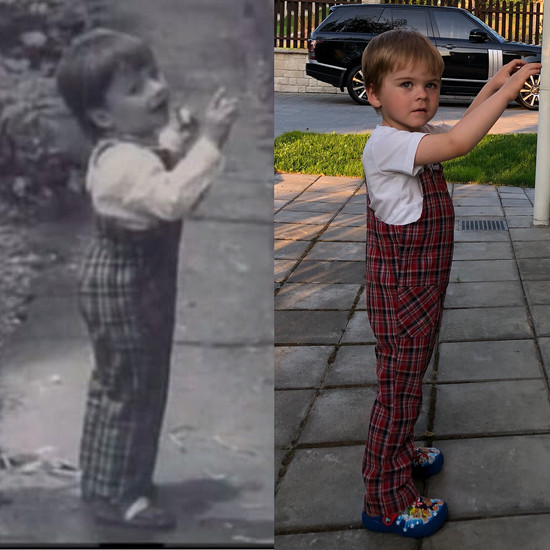 Фото Сергея Лазарева в детстве и снимок его сына Никиты