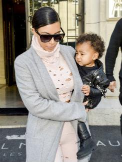 Ким Кардашьян с дочкой
