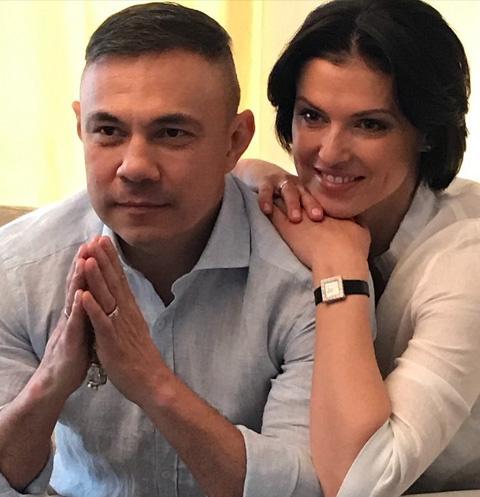 Костя Цзю с женой Татьяной