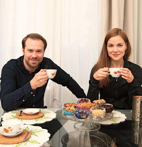 Алексей и Дана любят устраивать долгие чаепития