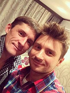 Сергей Лазарев с братом Павлом