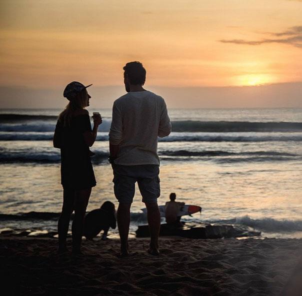 Козловский на пляже в Бали