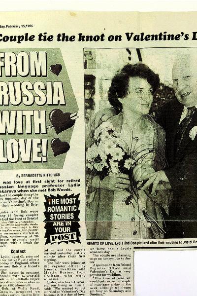 О свадьбе англичанина и россиянки писали местные газеты