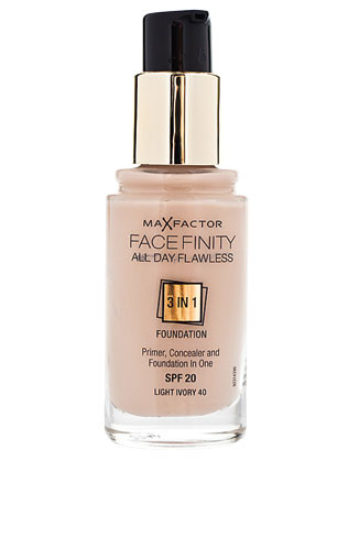 Max Factor, Тональный крем Facefinity All day Flawless 3 in 1 Foundation, 605 руб.