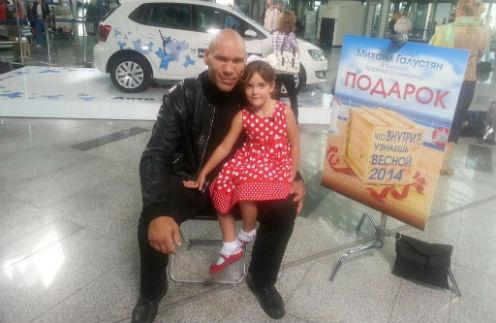 Николай валуев с 6-летней дочерью Ириной