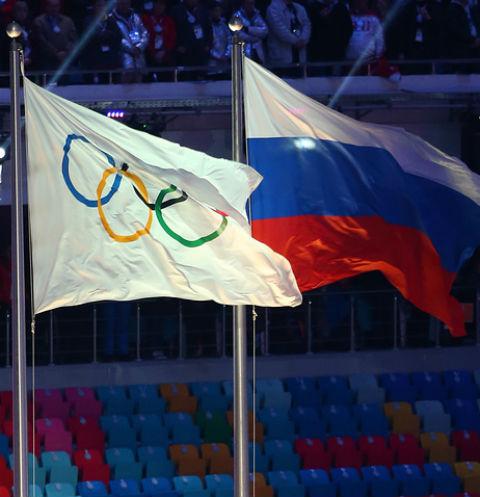 Флаг Олимпиады и России