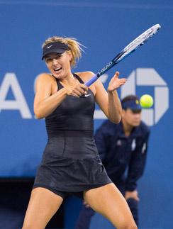 На чемпионате US Open Марии пришлось играть без поддержки бойфренда