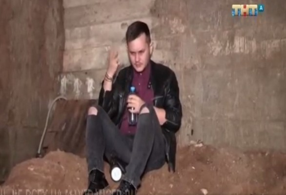 Тимофей Руденко во время испытания