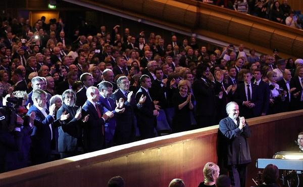 Владимир Путин сидел в первом ряду