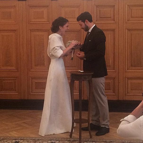 Пара расписалась в Грибоедовском загсе