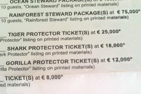 Стоимость билетов на гала-ужин Ди Каприо