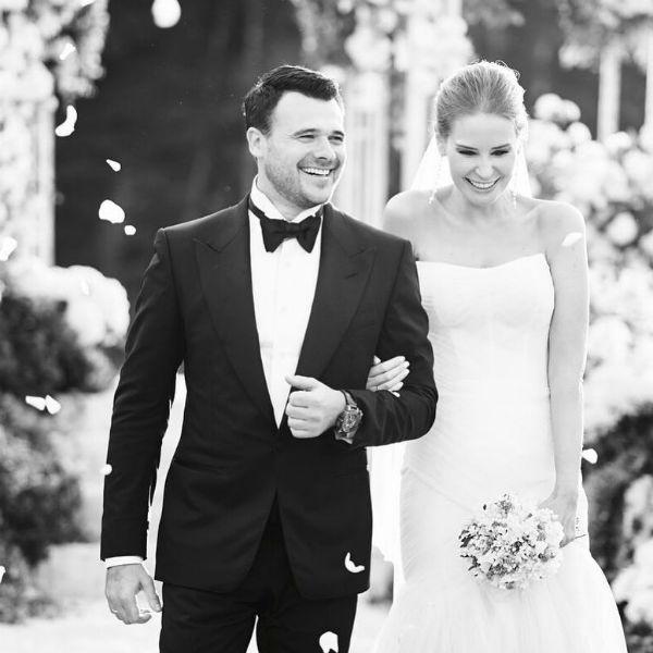 Эмин Агаларов и Алена Гаврилова в день свадьбы