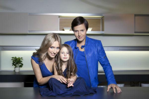 Витас с дочерью Аллой и супругой Светланой