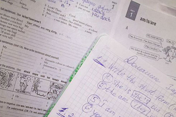 Антон делает домашние задания по ночам