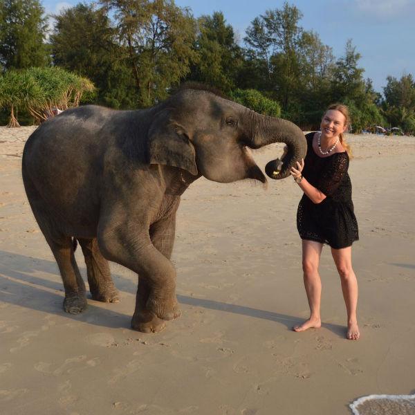 Варвара подружилась с диким животным