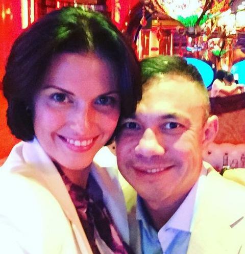 Костя Цзю с супругой Татьяной