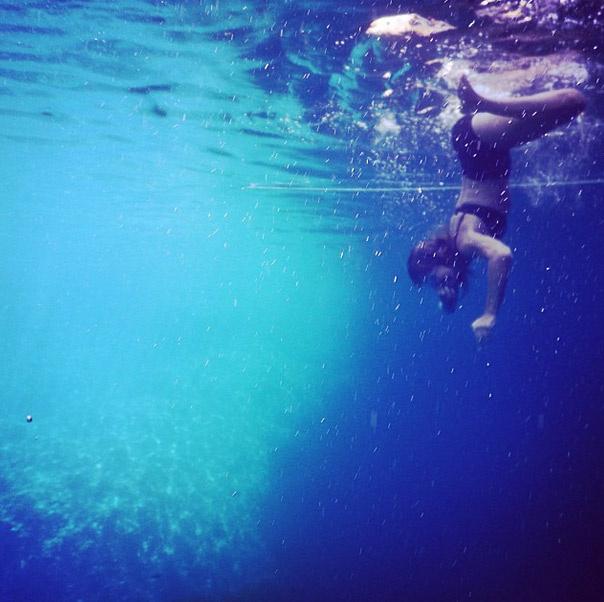 Первый опыт подводной съемки на айфон от Ксении Собчак