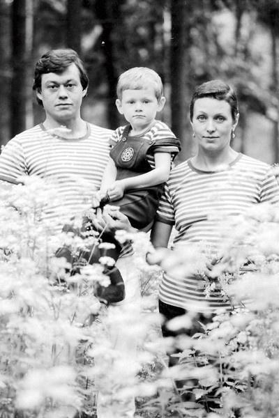 Караченцов с женой и сыном