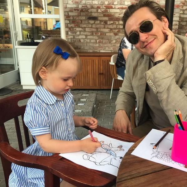 Сергей Безруков с дочерью