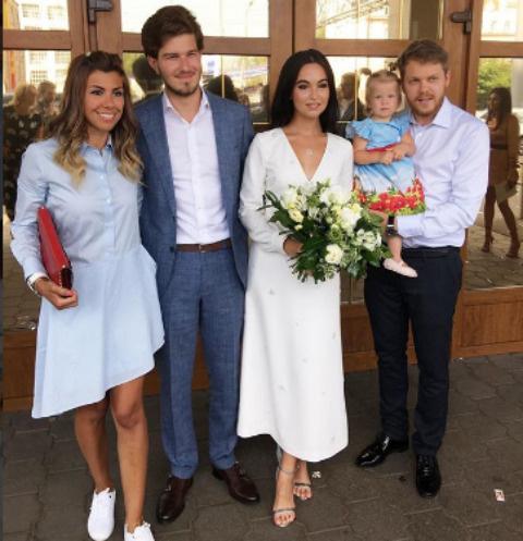 Молодожены вместе с Натальей Турецкой и ее супругом