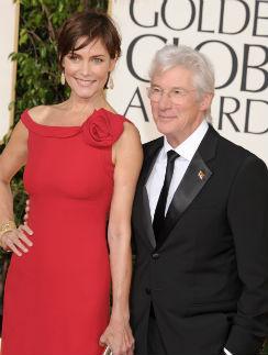 Эта фотография Ричарда Гира с женой была сделана в январе 2013 года