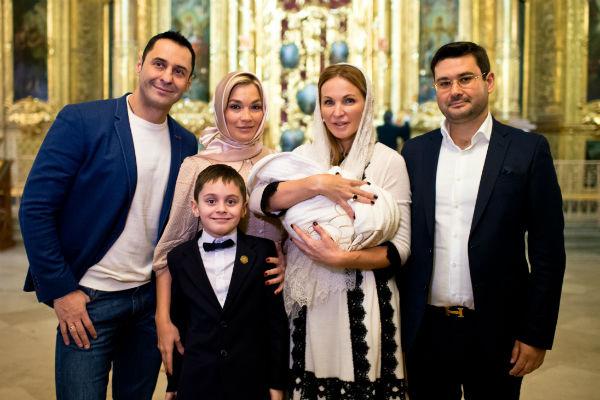 Недавно семья крестила маленького Мирона