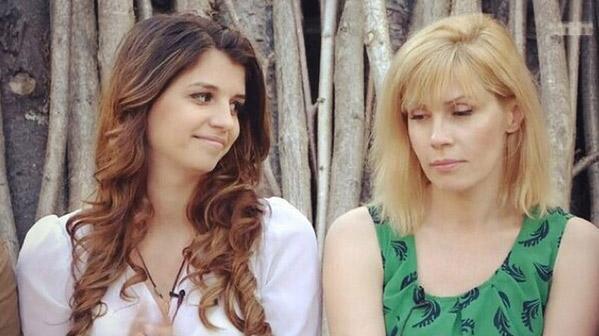 Алиана и Светлана Михайловна на лобном месте