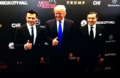 Эмин Агаларов, Дональд Трамп и Арас Агаларов