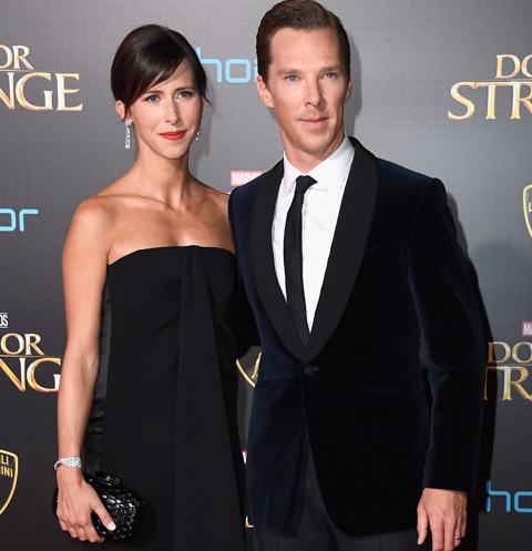 Софи Хантер и Бенедикт Камбербэтч на премьере фильма «Доктор Стрэндж»
