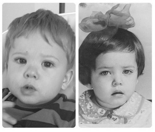 Детские фото Жанны и Платона