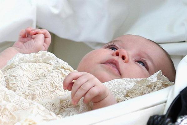 Принцесса Шарлотта после крещения