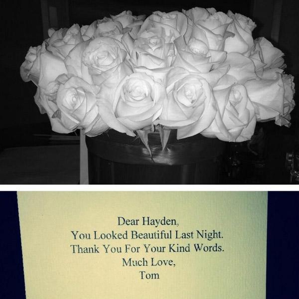 Цветы и благодарность от Тома Форда