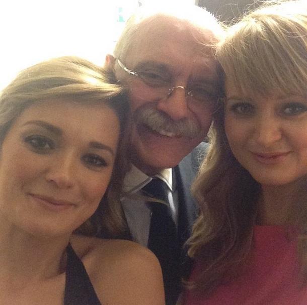 Никита Михалков с дочерьми Надей и Анной