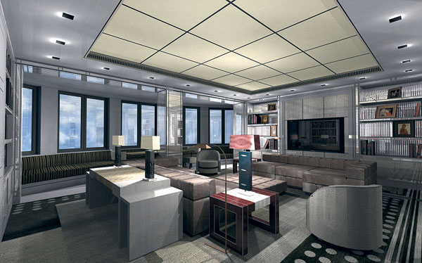 Так будет выглядеть гостиная в московской квартире Валерии и Пригожина
