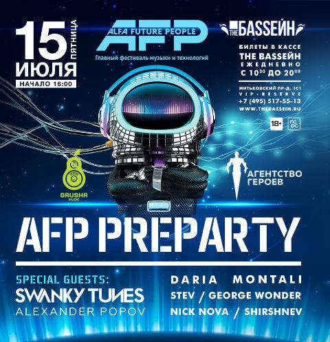 Pre-Party Alfa Future People 2016