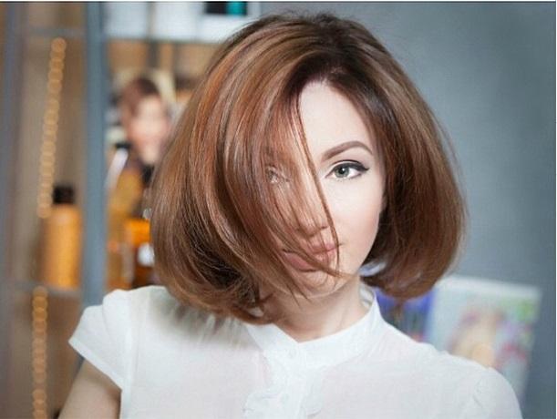 Евгения Феофилактова с каре