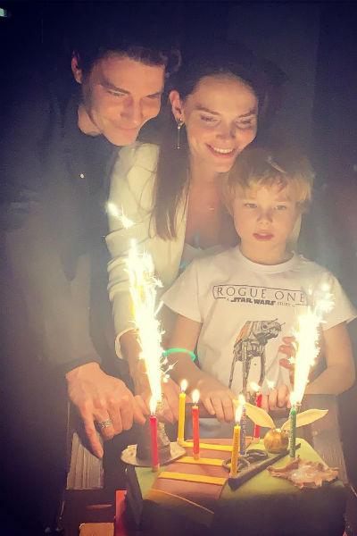 Сыну актрисы исполнилось семь лет