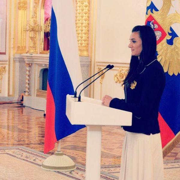 Елена Исинбаева на приеме у президента Владимира Путина