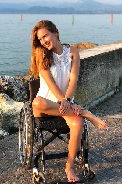 Спортсменка старается вести активный образ жизни, несмотря на инвалидность