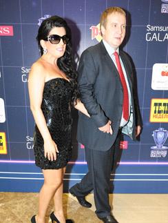 Диана Гурцкая с мужем Петром Кучеренко 31 мая на вручении музыкальной премии