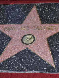 Звезда Пола Маккартни на Аллее славы