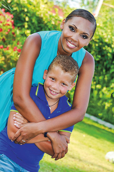 Инна Белова с сыном Даней