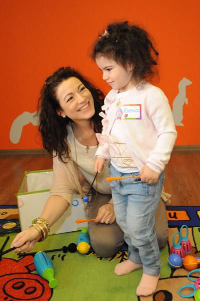 Алена Хмельницкая с младшей дочерью Ксюшей