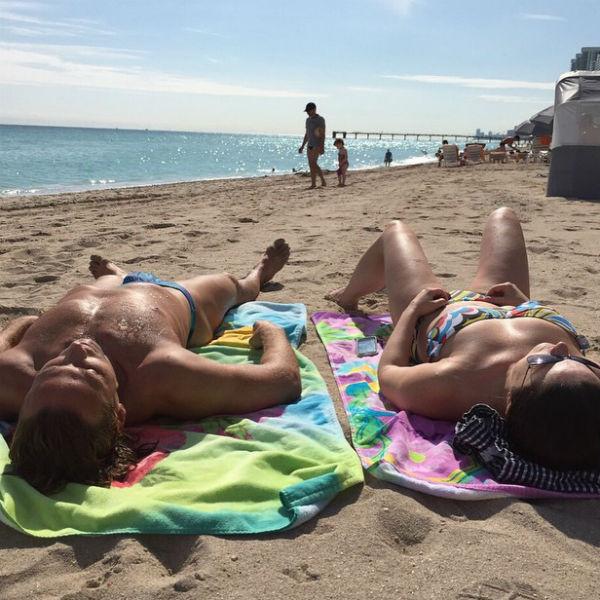 Совсем скоро из зимней Москвы супруги улетят в жаркий Майами