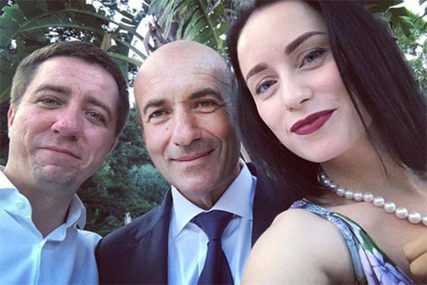 Игорь Крутой с сыном Николаем и невесткой Юлией