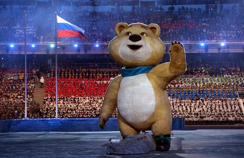 Один из талисманов Игр в Сочи