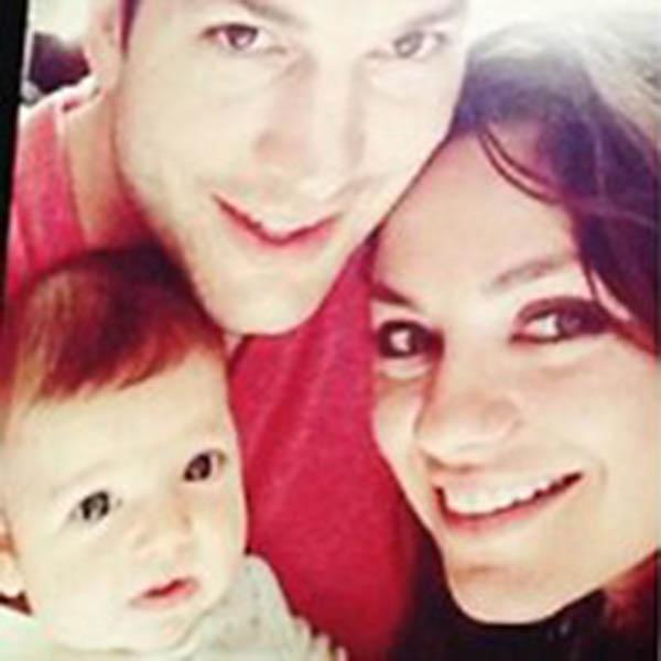 Семейное селфи: Мила Кунис, Эштон Катчер и Вайатт Изабель