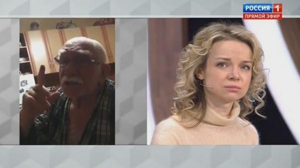 Виталина Цымбалюк-Романовская смотрит домашнее видео Джигарханяна
